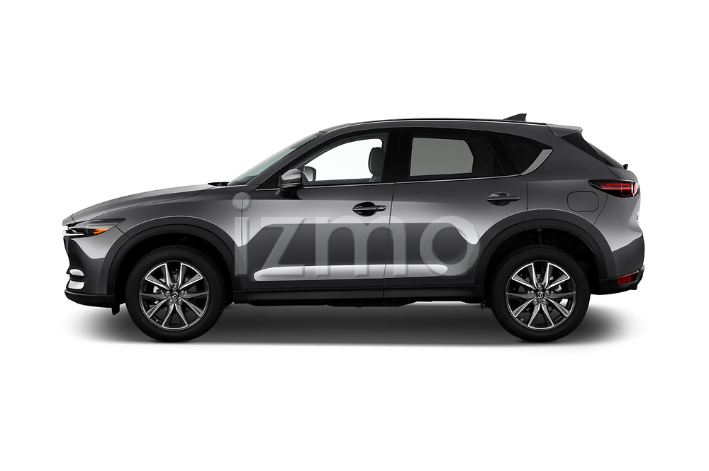 Car Driver side profile view of a 2018 Mazda CX-5 Grand-Touring 5 Door SUV Side View