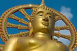 Thailand, Southern Thailand, Province Surat Thani, Ko Samui island: The Big Buddha at Wat Phra Yai | Thailand, Suedthailand, Provinz Surat Thani, Insel Ko Samui: Der Grosse Buddha im Wat Phra Yai Tempel