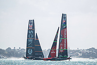 Emirates Team New Zealand VS INEOS TEAM UK in race 6 of the Round Robin competition of the PRADA America's Cup World Series in Auckland, New Zealand on Friday 18th December 2020. Copyright Photo: Libby Law Photography