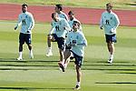 Spain's Ansu Fati, Eric Garcia, Sergio Canales, Jose Luis Gaya, Diego Llorente and Gerard Moreno during training session. October 6,2020.(ALTERPHOTOS/Acero)