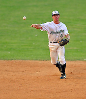 7 July 2008: Vermont Lake Monsters' infielder Nick Arata in action against the Batavia Muckdogs at Centennial Field in Burlington, Vermont. The Lake Monsters defeated the Muckdogs 3-2 in the final game of their 3-game series...Mandatory Photo Credit: Ed Wolfstein Photo