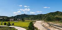 Landschaft im Osten , Nordkorea, Asien<br /> Landscape on the east of North Korea, Asia