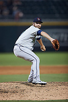 Gwinnett Stripers relief pitcher Jesse Biddle (48) in action against the Charlotte Knights at Truist Field on July 17, 2021 in Charlotte, North Carolina. (Brian Westerholt/Four Seam Images)