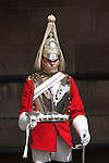 Great Britain, England, London: Detail of a Life Guard from the Household Cavalry Regiment