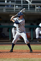 Chris Givin (35) of the Xavier Musketeers at bat against the Penn State Nittany Lions at Coleman Field at the USA Baseball National Training Center on February 25, 2017 in Cary, North Carolina. The Musketeers defeated the Nittany Lions 10-4 in game one of a double header. (Brian Westerholt/Four Seam Images)