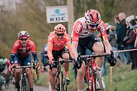 Tim Wellens (BEL/Lotto-Soudal) up the Molenberg<br /> <br /> 74th Omloop Het Nieuwsblad 2019 <br /> Gent to Ninove (BEL): 200km<br /> <br /> ©kramon