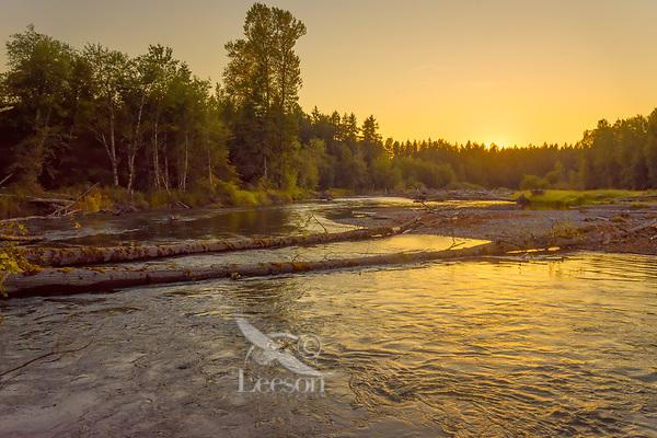 Nisqually River, WA.  July sunset.