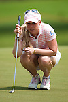 CHON BURI, THAILAND - FEBRUARY 18:  Morgan Pressel of USA lines up putt on the 3rd green during day two of the LPGA Thailand at Siam Country Club on February 18, 2011 in Chon Buri, Thailand. Photo by Victor Fraile / The Power of Sport Images