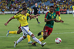 Santiago Arias of Colombia and Owona of Camerun during the friendly match between Camerun and Colombia in Madrid, Spain 13 jun 2017.(ALTERPHOTOS/Rodrigo Jimenez)