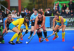 NZ's Olivia Shannon in action during the Sentinel Homes Trans Tasman Series hockey match between the New Zealand Black Sticks Women and the Australian Hockeyroos at Massey University Hockey Turf in Palmerston North, New Zealand on Sunday, 30 May 2021. Photo: Dave Lintott / lintottphoto.co.nz