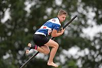 FIERLJEPPEN: BUITENPOST: 19-08-2020, Wisse Broekstra, 19.92 meter Fries record, ©foto Martin de Jong