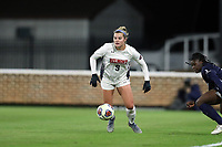 CHAPEL HILL, NC - NOVEMBER 16: Grace Parsons #9 of Belmont University plays the ball during a game between Belmont and North Carolina at UNC Soccer and Lacrosse Stadium on November 16, 2019 in Chapel Hill, North Carolina.