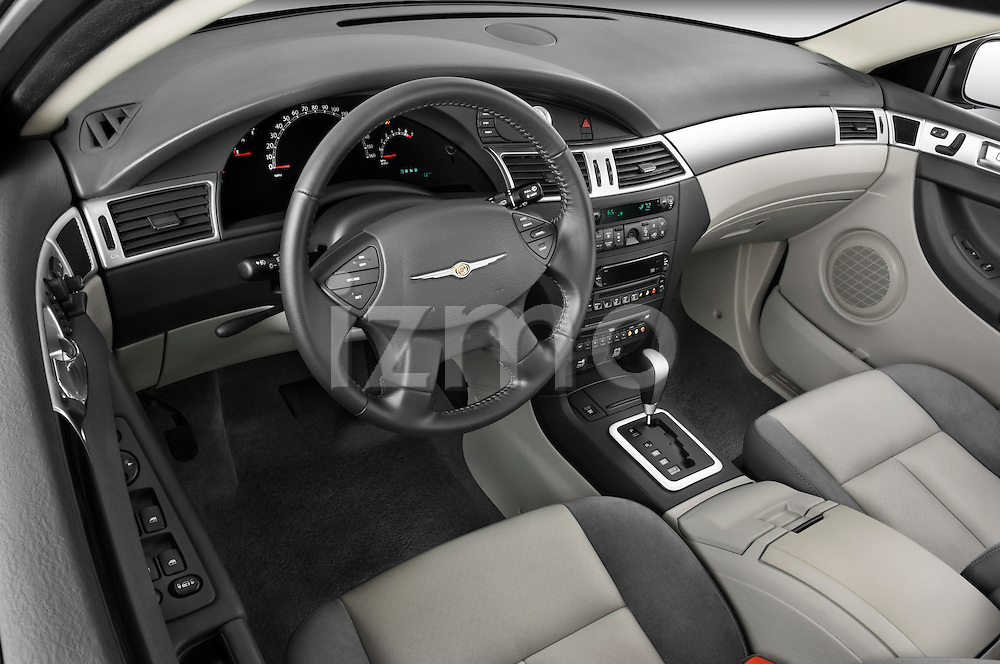 High angle dashboard view of a  2009 Chrysler Pacifica Touring