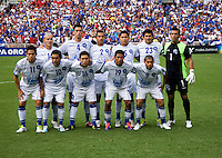 El Salvador lines up before the game at RFK Stadium in Washington, DC.  Panama defeated El Salvador on penalty kicks, 5-3, after tying, 1-1,  in regulation time.