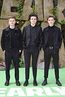 """New Hope Club<br /> arriving for the """"Early Man"""" world premiere at the IMAX, South Bank, London<br /> <br /> <br /> ©Ash Knotek  D3369  14/01/2018"""