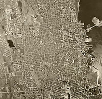 historical aerial photo map of New Bedford, Massachusetts, 1961