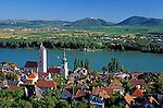 Austria, Lower Austria, Wachau, Stein at the Danube, Benedictine Monastery Goettweig in the background