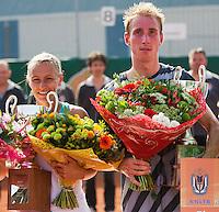 19-08-12, Netherlands, Amstelveen, NTK, Finale Heren Mark de Jong  en Olga Kalyhushnaja