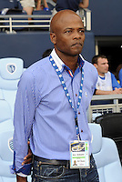 Julio Dely Valdes Coach of Panama..Canada and Panama tied 1-1 in Gold Cup play at LIVESTRONG Sporting Park, Kansas City, Kansas.