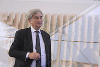 - Milano, cantiere per  l'Esposizione Mondiale Expo 2015; cerimonia per l'inizio dei lavori di costruzione del padiglione francese; Alain Berger, commissario generale francese per l'Expo<br />