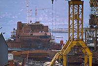 - shipyard in La Spezia harbor....- cantiere navale nel porto di La Spezia