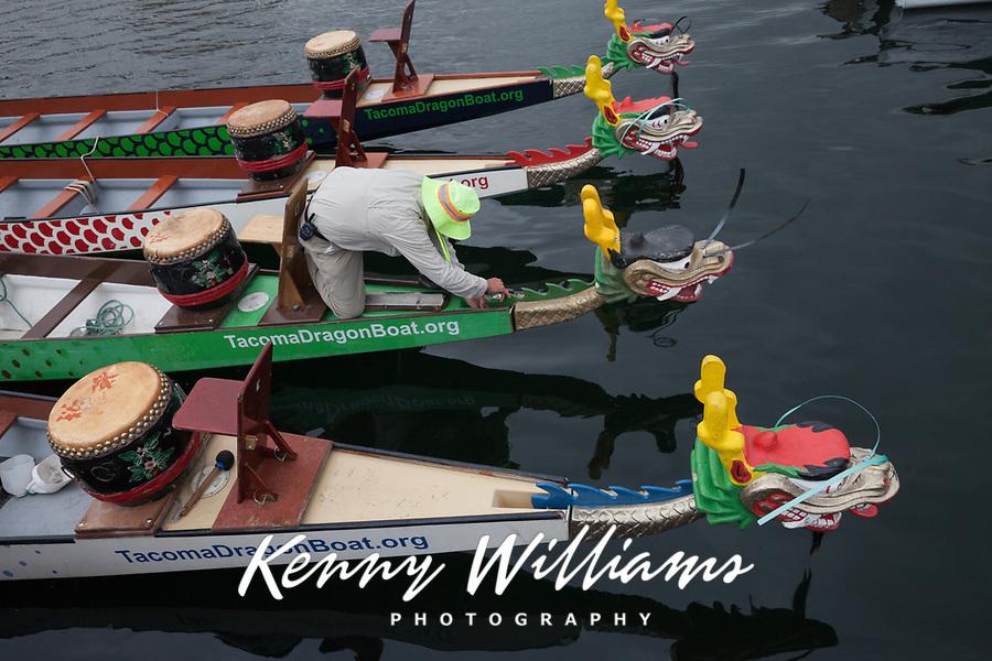 Dragon Boat Festival 2015, Lake Union Park, Seattle, Washington State, WA, America, USA.