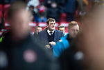 Aberdeen v St Johnstone…08.12.18…   Pittodrie    SPFL<br />Sainst boss Tommy Wright makes his way to the dugout<br />Picture by Graeme Hart. <br />Copyright Perthshire Picture Agency<br />Tel: 01738 623350  Mobile: 07990 594431