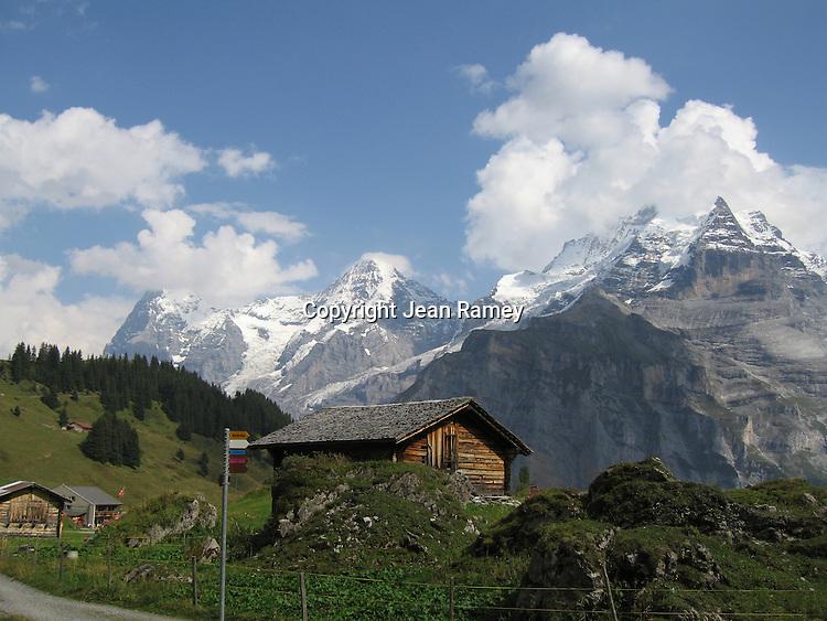 Alpen barn, Swiss Alps