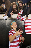 USWNT fans, Julie Johnston.  The USWNT defeated Scotland, 4-1, during a friendly at EverBank Field in Jacksonville, Florida.