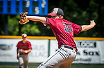 WATERBURY, CT 073121JS14 South Troy's Jake Tucker (34) delivers a pitch during their Mickey Mantle World Series baseball game against Midland Saturday at Municipal Stadium in Waterbury. <br /> Jim Shannon Republican American