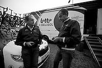 Milan-San Remo 2012.raceday.Herman Frison & Marc Sergeant at hotel