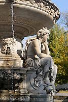 Danubiusbrunnen am Erzsébet tér, Budapest, Ungarn