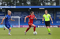2nd May 2021; Kingsmeadow, London, England;  Sarah Zadrazil  of Bayern Munich during the UEFA Womens Champions League Semi Final game between Chelsea and Bayern Munich at Kingsmeadow