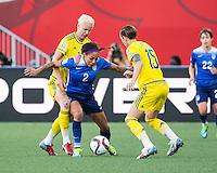 WINNIPEG, MANITOBA, CANADA - June 12, 2015: USA vs Sweden match at the Winnipeg Stadium.  Final score 0-0.