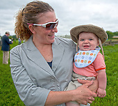 Trainer Brianne Slater and her assistant, William, saddle Indian Creek Queen to win the Vicmead Plate.
