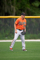 Baltimore Orioles Jason Heinrich (41) during a minor league Spring Training intrasquad game on April 2, 2016 at Buck O'Neil Complex in Sarasota, Florida.  (Mike Janes/Four Seam Images)