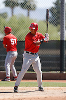 Efren Navarro - Los Angeles Angels - 2009 spring training.Photo by:  Bill Mitchell/Four Seam Images