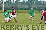 Eoin Ross Ballyduff in action against Niall Dennehy Cromane in their Division 5 clash inn Ballyduff on Sunday last.