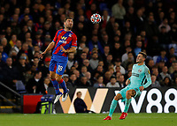 27th September 2021;  Selhurst Park, Crystal Palace, London, England; Premier League football, Crystal Palace versus Brighton & Hove Albion: James McArthur of Crystal Palace heads the ball over Pascal Gross of Brighton & Hove Albion