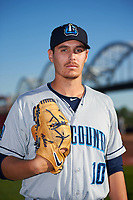 Lake County Captains pitcher Brady Aiken (10) poses for a photo before a game against the Quad Cities River Bandits on May 6, 2017 at Modern Woodmen Park in Davenport, Iowa.  Lake County defeated Quad Cities 13-3.  (Mike Janes/Four Seam Images)
