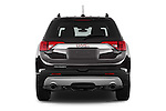 Straight rear view of 2018 GMC Acadia SLT-1-FWD 5 Door SUV Rear View  stock images