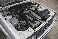 BNPS.co.uk (01202) 558833. <br /> Pic: SilverstoneAuctions/BNPS<br /> <br /> Pictured: Mint condition engine bay. <br /> <br /> Fire up the price tag...<br /> <br /> This immaculate Audi Quattro got collectors of 'modern classic' cars all fired up - as it sold for a record-breaking price of £163,125.<br /> <br /> The iconic eighties motor was believed to be the last one ever manufactured by the German car giant when it rolled off the production line in 1991.<br /> <br /> The UR Quattro 20V has had just two owners in its 30 year life and has just 9,700 miles on the clock.<br /> <br /> As a result the pearly white vehicle proved highly desirable when it went under the hammer.