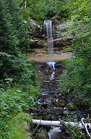 Summertime view of Munising Falls. Munising, MI