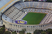 aerial photograph of Louisiana State University, Tiger Stadium, Baton Rouge, Louisiana
