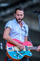 Mondo Cozmo performs on the main stage of the Festival d'ete de Quebec (FEQ) in Quebec city Sunday July 16, 2017.