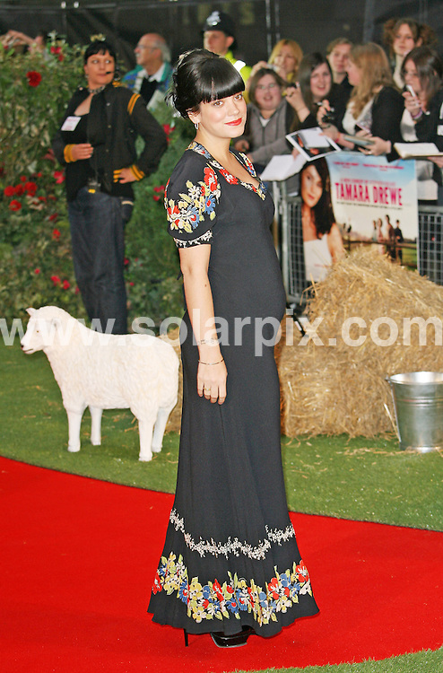 **ALL ROUND PICTURES FROM SOLARPIX.COM**.**WORLDWIDE SYNDICATION RIGHTS**.arrivals at the UK premiere of Tamara Drewe, at Odeon Leicester Square, London, UK.  6 September 2010..This pic: Lily Allen..JOB REF: 12049 LNJ     DATE: 06_09_2010.**MUST CREDIT SOLARPIX.COM OR DOUBLE FEE WILL BE CHARGED**.**MUST NOTIFY SOLARPIX OF ONLINE USAGE**.**CALL US ON: +34 952 811 768 or LOW RATE FROM UK 0844 617 7637**