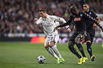 Cristiano Ronaldo of Real Madrid  fights for the ball with Kalidou Koulibaly of SSC Napoli during the match Real Madrid vs Napoli, part of the 2016-17 UEFA Champions League Round of 16 at the Santiago Bernabeu Stadium on 15 February 2017 in Madrid, Spain. Photo by Diego Gonzalez Souto / Power Sport Images