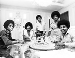 The Jacksons  1977 at their Encino family home.....