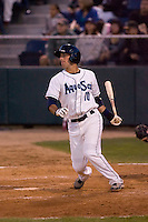 August 6, 2010: Everett AquaSox's Kevin Mailloux at bat during a Northwest League game against the Boise Hawks at Everett Memorial Stadium in Everett, Washington.  Mailloux hit two solo home runs in the game.