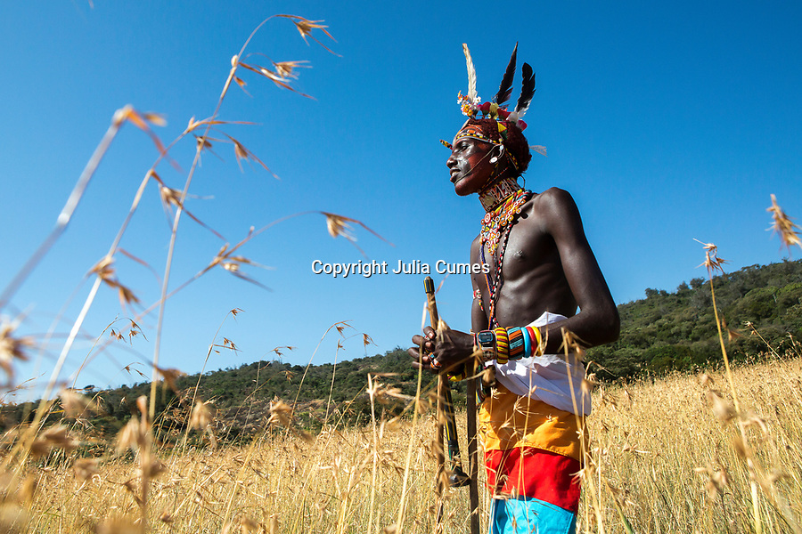 A Samburu warrior in Kenya.